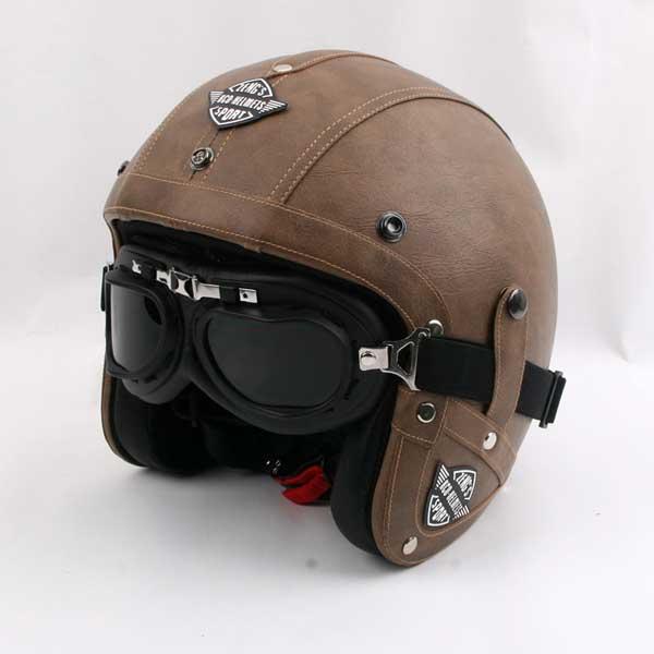 casco vintage da moto
