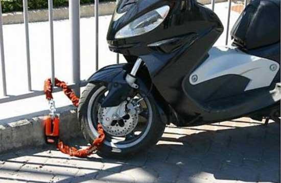 catena moto antifurto