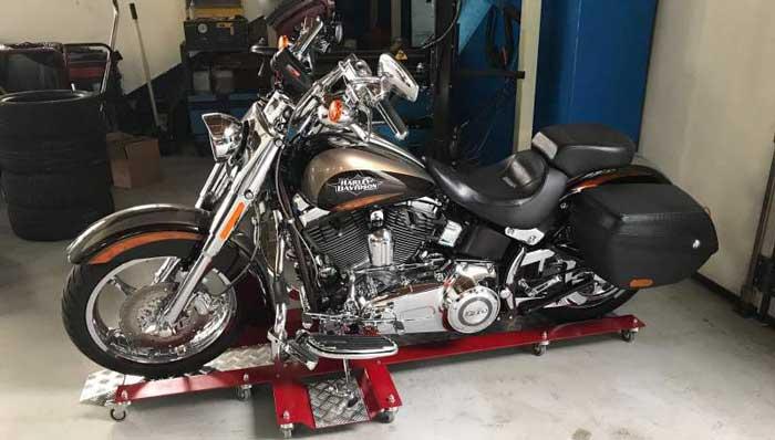 Carrello sposta moto per Harley Davidson